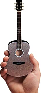 FAN MERCH Glitter Rhinestone Acoustic Miniature Guitar Replica Collectible