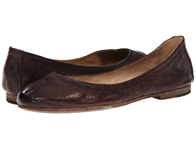 Frye Carson Ballet (Dark Brown Antique Soft Full Grain) Women
