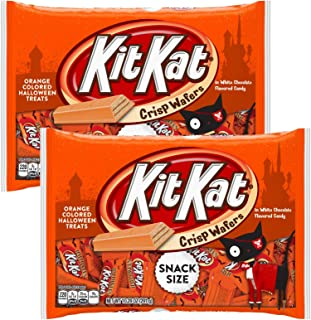 Kit Kat Chocolate Halloween Candy Seasonal Hand Out Packs - Fun Size Trick or Treat Candies For Kids (2 Bags Total) - (Orange)