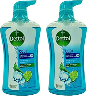 Dettol Anti Bacterial pH-Balanced Body Wash, Cool, 21.1 Oz, 625 Ml (Pack of 2)
