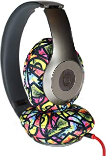 Avokado Caps - Washable Headphone Covers (Neon Palm,L)