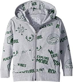 Cotton Jersey Camp Badges Hoodie (Toddler/Little Kids)