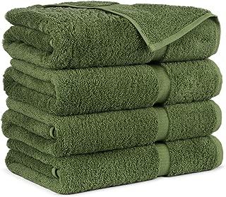 pea green towels