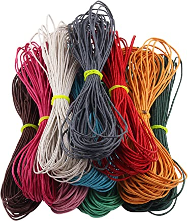1mm 100 Yards Jewellery Making Beading Crafting Macrame Waxed Cotton Cord Thread (Mix 10 colours)