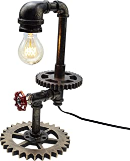 Y-Nut Loft Style Vintage Metal Dimmable Table Lamp,