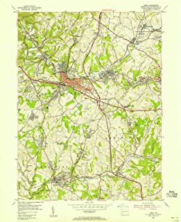 YellowMaps Irwin PA topo map, 1:24000 Scale, 7.5 X 7.5 Minute, Historical, 1953, Updated 1955, 26.9 x 22 in
