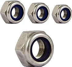 LAQI 4Pcs 304 Edelstahl Sechskant Flanschmutter M8 x 1mm Pitch Metric Feingewinde