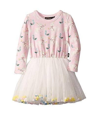 Rock Your Baby Unicorn Ribbons Long Sleeve Circus Dress (Toddler/Little Kids/Big Kids) (Pink) Girl