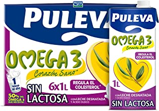 Puleva Leche Desnatada con  Omega 3 Sin Lactosa Pack 6lts.