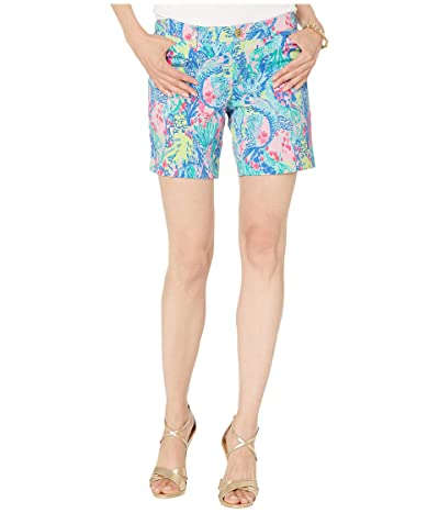 Lilly Pulitzer Bay Ave 7 Shorts (Multi Mermaids Cove) Women