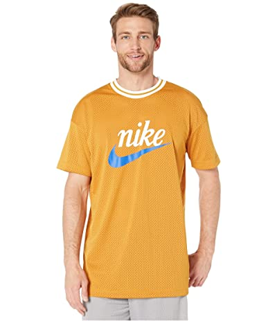 Nike NSW Heritage Top Short Sleeve Mesh Graphics (Gold Suede) Men