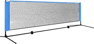 3/4M Portable Sports Net for Badminton Tennis Volleyball Training Veratile Everfit Sports Net Training Height Adjustable N...