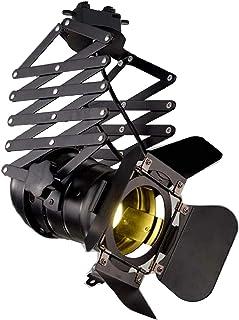 Foco Carril Interior E27, longitud Ajustable, luz para cinema, tienda, estudio, color negro
