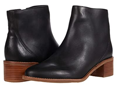 Soludos Kirby Leather Bootie (Black) Women