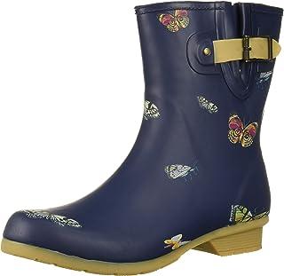 Chooka Women's Mid-Height Printed Rain Boot with Memory Foam Calf