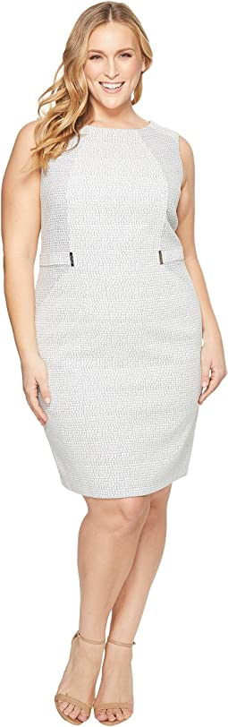 Calvin Klein Plus Plus Size Animal Sheath Dress