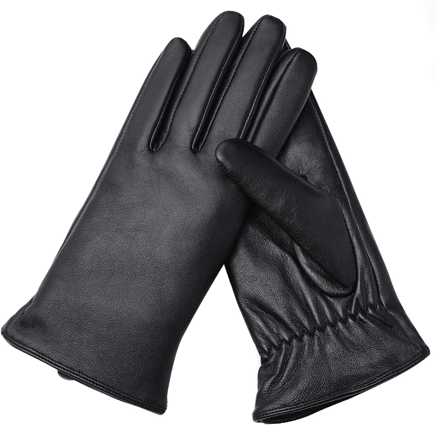 Air Curvey Winter Touch Screen Leather Gloves Womens Driving Glove Warm Lining