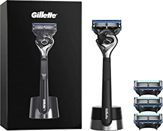 Gillette Fusion5 ProGlide Razor for Men + 4 Refill Blades ProGlide Razor Blades for Men with Precision Trimmer, Gift Set I...