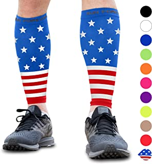 red white and blue compression socks