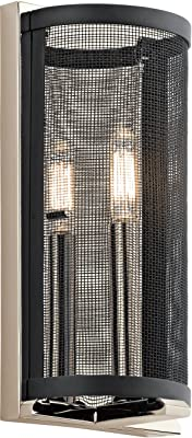 Kichler 43716PN, Titus Candle Wall Sconce Lighting, 1 Light, 18 Total Watts, Polished Nickel