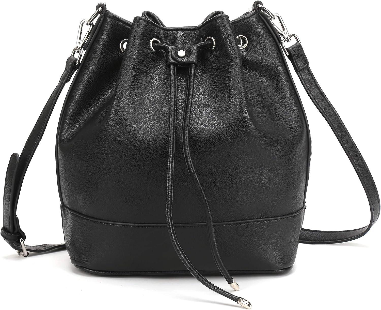 Suede Drawstring Bucket Bag for Women Largecapacity Tote Shoulder Bag Crossbody Purse