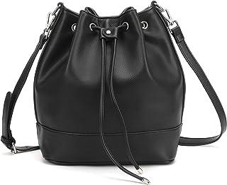 4b127b71942d Drawstring Bucket Bag for Women Large Crossbody Purse and Shoulder Bag Suede  Tote Handbags