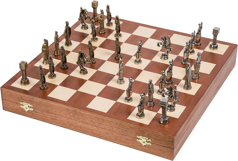 Ahorre 60% de descuento y envío rápido a todo el mundo. Square - Ajedrez Ajedrez Ajedrez - Rey Arturo - Metal Lux - Tablero de ajedrez de Madera - Caoba  promociones
