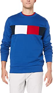 TOMMY HILFIGER Men's Colour-Blocked Flag Sweatshirt
