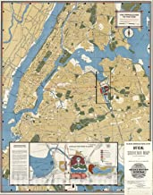 Historic Map - The Approaches to the Fair. New York City. 1964 - Vintage Wall Art - 35in x 44in