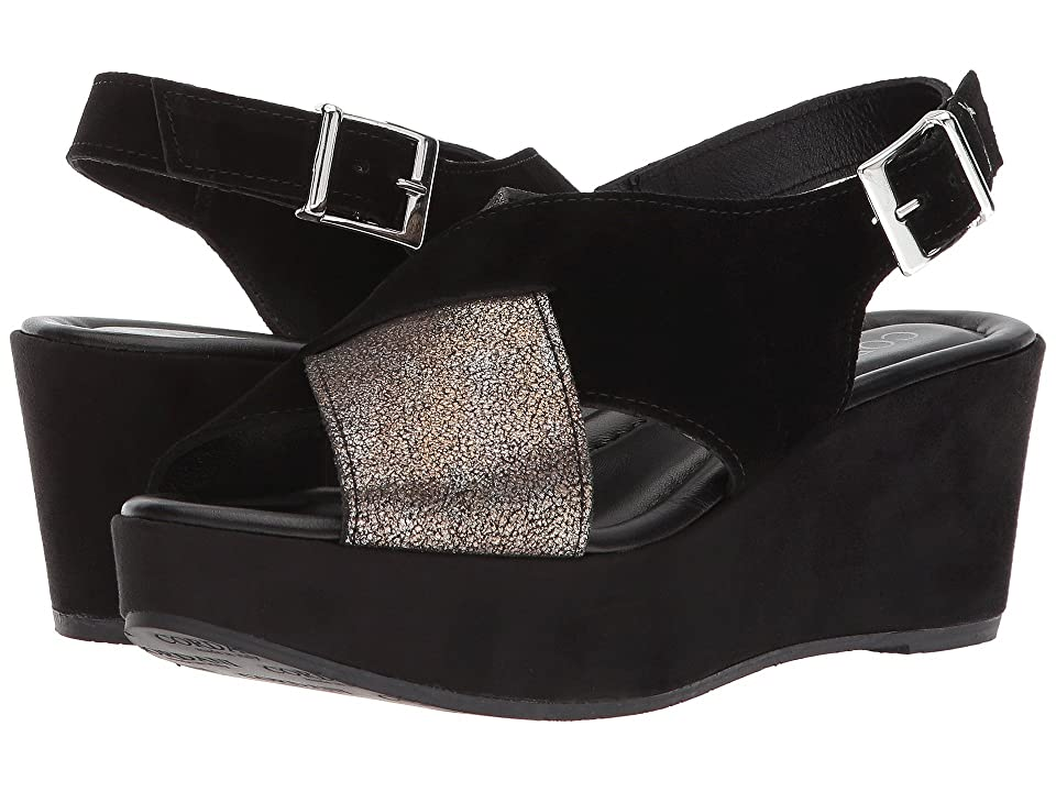 Cordani Cleary (Black Suede/Pewter) Women