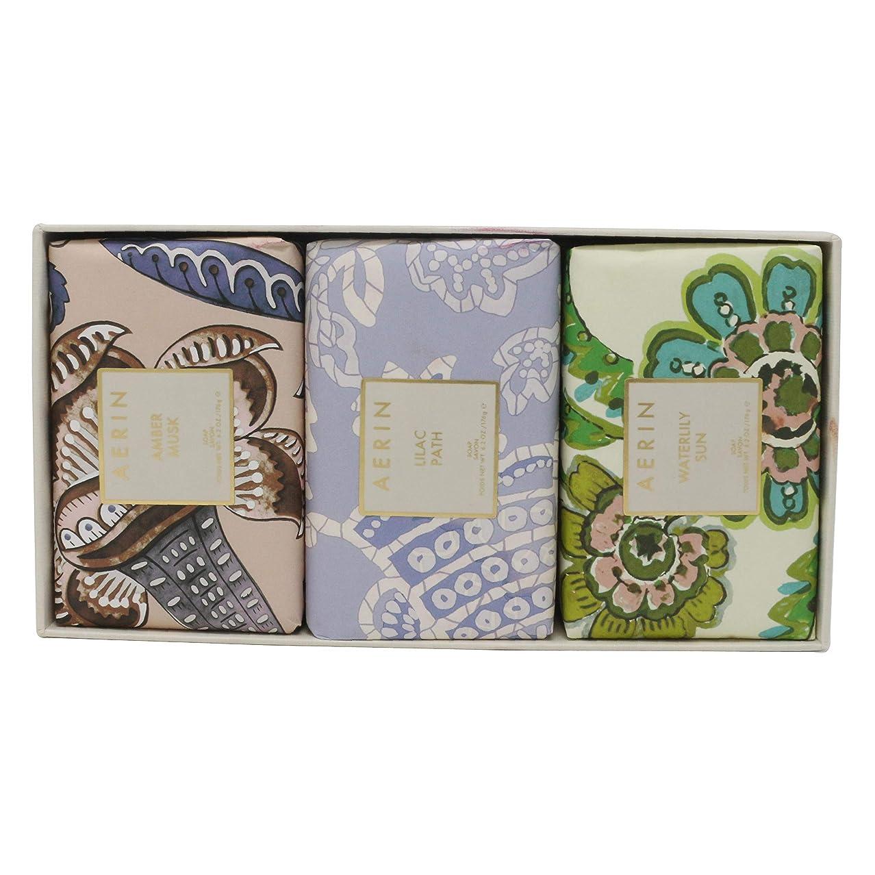 ソファー吸収するディスクAERIN Beauty Soap Coffret(アエリン ビューティー ソープ コフレット ) 6.2 oz (186ml) Soap 固形石鹸 x 3個セットby Estee Lauder