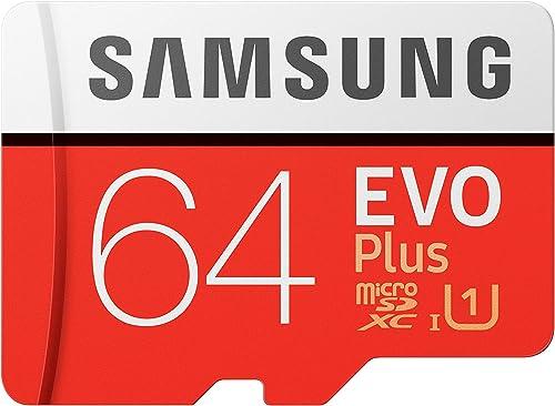 Samsung EVO Plus 64GB microSDXC UHS-I 100MB/s Full HD & 4K UHD Memory Card with Adapter (MB-MC64HA)