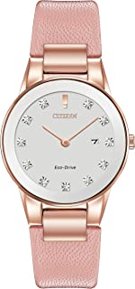 Citizen Women's Analog Eco-Drive Watch with Leather Strap GA1058-08A