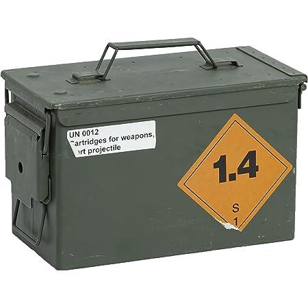MUNITIONSKISTE KISTE PATRONENKISTE METALL AMMO BOX KINDER GESCHENKIDEE