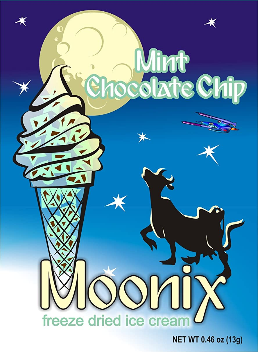 Moonix Freeze Dried Ice Cream. 5ct (Mint Chocolate Chip)
