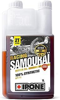 Ipone 800090 Huile Moteur Moto 2T Samouraï Racing Option Fraise-100% Synthétique avec Esters-Lubrifiant Haute Performance-...