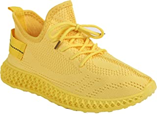 Shuberry SB-19061 Latest Footwear Collection, Comfortable & Fashionable Fabric in Beige, Black, Pink and Yellow Colours Sneaker for Women & Girls