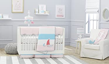 Just Born Sail Into Your Dreams 3-Piece Crib Bedding Set, Pink