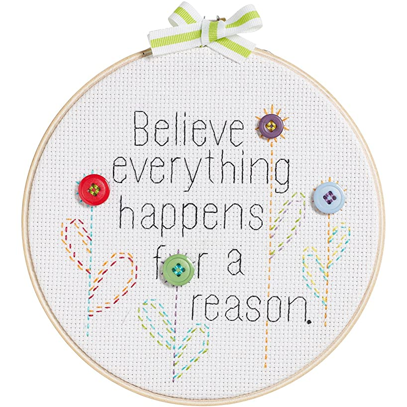 My 1st Stitch Believe Everything Happens Mini Counted Cross -6