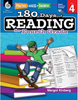180 Days of Reading: Grade 4 - Daily Reading Workbook for Classroom and Home, Reading Comprehension and Phonics Practice, School Level Activities Created by Teachers to Master Challenging Concepts