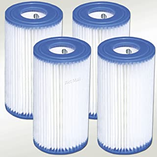 Intex Tipo A Easy Set - Cartucho de filtro de repuesto para piscina (4 unidades)