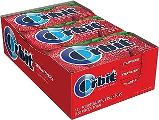 ORBIT Strawberry Sugar Free Chewing Gum, 14 pieces, (12 Pack)