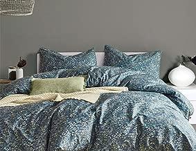 Opcloud Bedding Duvet-Cover-Set, 600 TC Queen Cotton Luxury Soft Comforter Cover Set,1 Duvet Cover and 2 Pillow Shams Bedding-Set