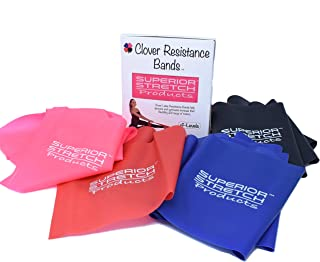 CLOVER RESISTANCE BANDS – Increase Flexibility & Range of Motion - For Dance, Ballet Stretch Band, Gymnastics, Physical Therapy and Fitness Training – Includes 4 Levels of Progressive Resistance