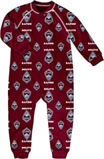 MLS by Outerstuff Toddler Sleepwear Zip Up Coverall, Burgundy, 2T