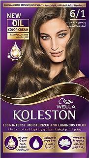 Wella Koleston Permanent Hair Color Kit 6/1 Dark Ash Blonde