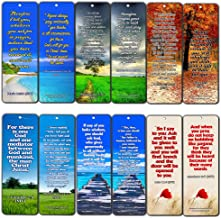 Christian Encouraging Bible Texts to Strengthen Prayer Life Bookmarks (12 Pack) - Collection of Bible Verses About Improving Your Prayer Life