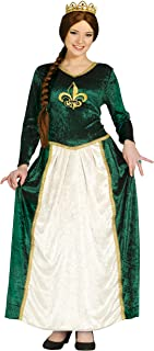 Guirca- Disfraz adulta reina medieval, Talla 38-4 (80802.0