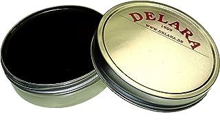 DELARA Hochwertiger Pflegebalsam für Leder mit Jojoba und Bienenwachs - schützt Glattleder wirksam vor Austrocknung und Oxidation - Made in Germany