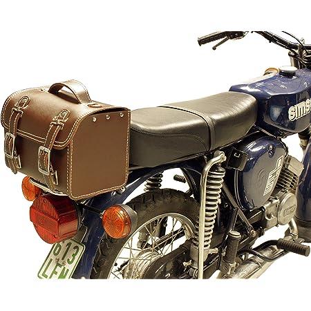 Leder Hecktasche Mit Schnellverschluss Gepäckträger Tasche Packtasche Schwarz Für Simson S50 S51 S70 Auto